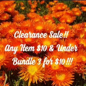 🌺 Clearance ALERT!! Bundle 3 items for $10!!